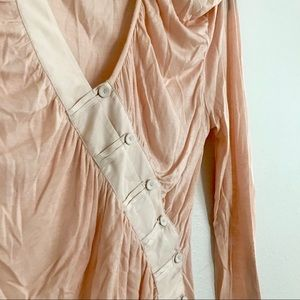 L.A.M.B. Peach detailed long sleeve top size M